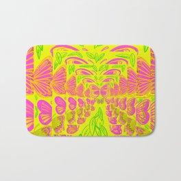 Yellow Butter Fly Bath Mat