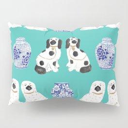 Staffordshire Dogs + Ginger Jars No. 2 Pillow Sham