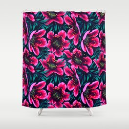 Manuka Floral Print Shower Curtain