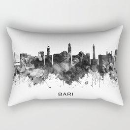 Bari Italy Skyline BW Rectangular Pillow