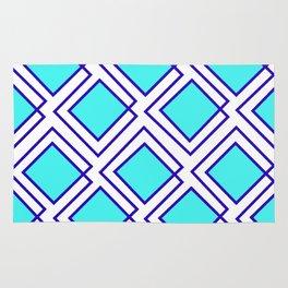 Turquoise Squared Rug