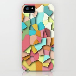 mosaic chaos iPhone Case