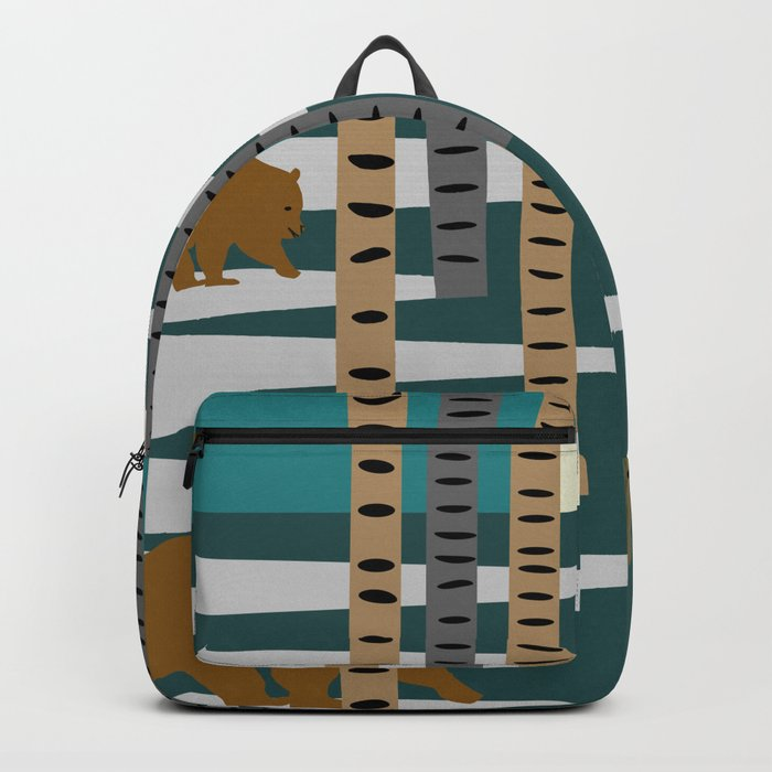 Bears walking in the forest Backpack