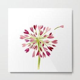Heart Flower Metal Print