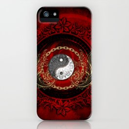 The sign ying and yang iPhone Case