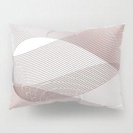 Red Minimal linear Wine waves geometric Pillow Sham
