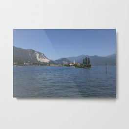 Panoramic view of Fishermen Island on Lake Maggiore, Italy Metal Print