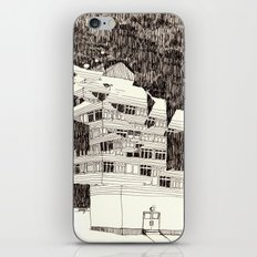 Deconstructed Buildings at Night iPhone & iPod Skin