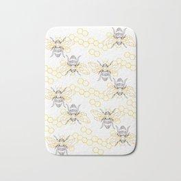 Honey Bee Pattern Bath Mat