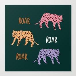 Roar! Cute Leopard Pattern Canvas Print