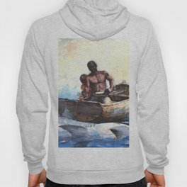 Shark Fishing 1885 By WinslowHomer | Reproduction Hoody