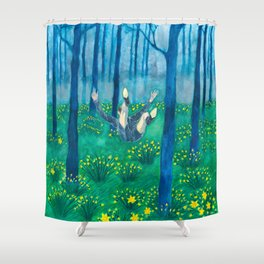 Sometimes it feels like I'm drowning/Forest fall Shower Curtain