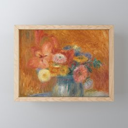 Green Bowl of Flowers Framed Mini Art Print