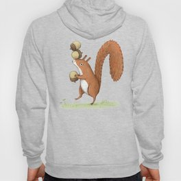 Squirrel With Acorns Hoody