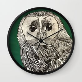 Buho verde Wall Clock