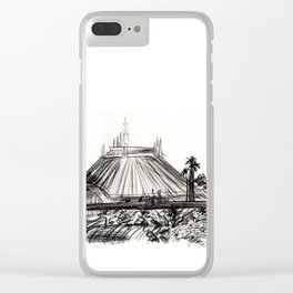 Space Mountain Clear iPhone Case