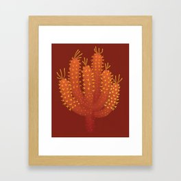 Brown Cactus - Warm Fource #cactuslover Framed Art Print