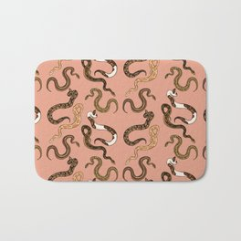 Plenty of Pythons - Peach Bath Mat