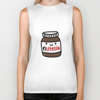 nutella Biker Tanks featuring Nutella by Iotara