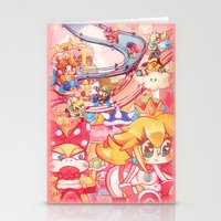 mario kart Stationery Cards featuring Mario kart - Sweet Sweet canyon by SweetOwls