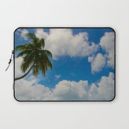 Tropical Palm with Blue Skies Laptop Sleeve