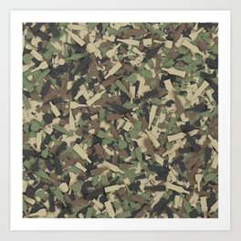 Forest alcohol camouflage Art Print