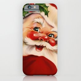Golden vintage santa claus iPhone Case