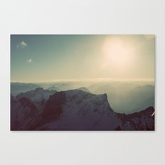 Mountain Germany Alps Color Photo Canvas Print