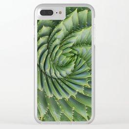 Green spirale Clear iPhone Case