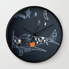 Halloween Plane Ride Wall Clock