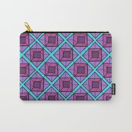 Squares in Diamonds Carry-All Pouch