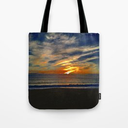 Dusky Waves Tote Bag