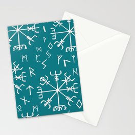 Viking Compass and runes Stationery Cards