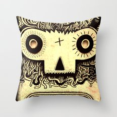 Wormface Throw Pillow