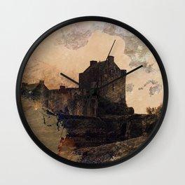 Eilean Donan Castle Kyle of Lochalsh Scotland Wall Clock