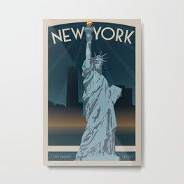 New York Travel Poster Metal Print