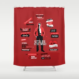 Stiles Stilinski Quotes Teen Wolf Shower Curtain