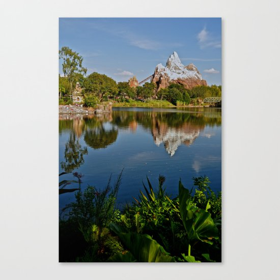 Flame Tree View Canvas Print