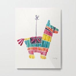 Mexican Donkey Piñata – CMYK Palette Metal Print