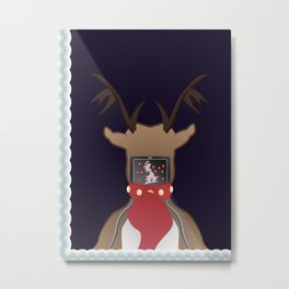 Christmas Card - I Can't Find Britain! Metal Print