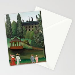 Henri Rousseau - View of Montsouris Park, the Kiosk Stationery Cards