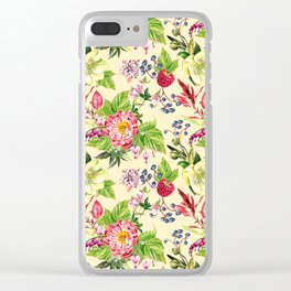 Fowers and Berries Spring Clear iPhone Case