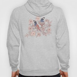 Quail and Wild Roses Hoody