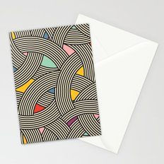 Modern Scandinavian Multi Colour Color Curve Graphic Stationery Cards