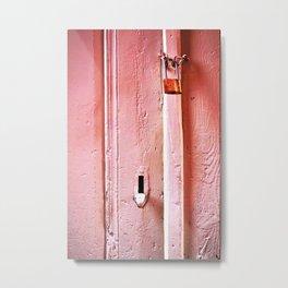 locked door Metal Print