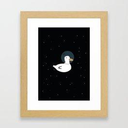 Space Duck Framed Art Print