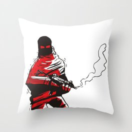 Death wears a track suit Throw Pillow