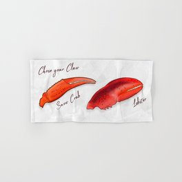 Chose your Claw, Crab vs Lobster Hand & Bath Towel