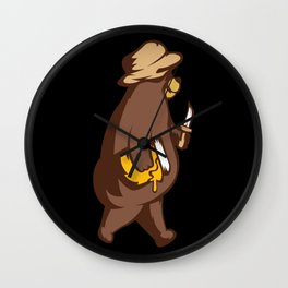 Hungry bear Wall Clock