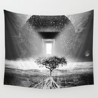 tree of life Wall Tapestries featuring Life Tree by Murat Erturk